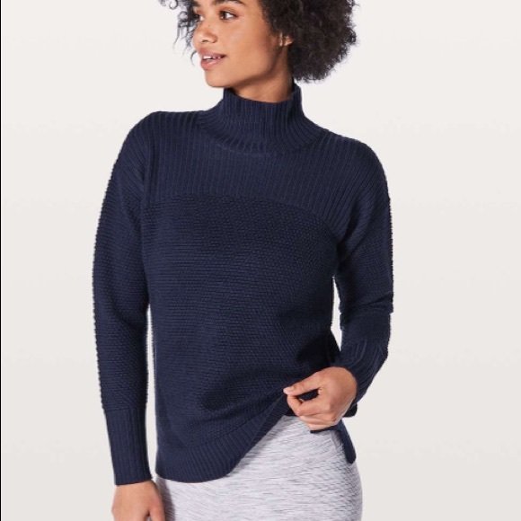 lululemon Warm & Restore Sweater - Midnight Navy